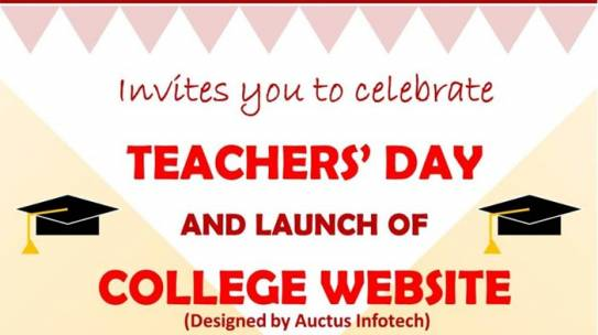 Teacher's Day Celebration Zoom Meeting Meet : 5th SEPT 2020  Time : 10.00 a.m.